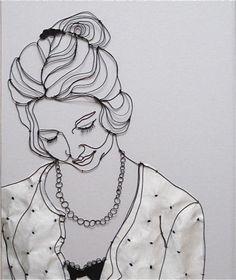 sculptural drawing by christina james nielsen: October 2011