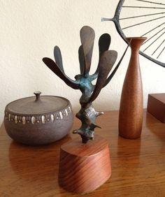 Mid Century Jack Boyd Abstract Bronze Sculpture