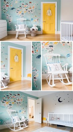 Safari Kids Map Mural Wallpaper This sweet pastel toned world map is perfect for your little one's nursery or bedroom, featuring illustrated animals from all over the world in a cute and educational style. The sea is coloured in a soft duck-egg tone that Boy Toddler Bedroom, Baby Bedroom, Baby Boy Rooms, Kids Bedroom, Kids Rooms, Duck Egg Bedroom, Childrens Bedrooms Boys, Safari Bedroom, Animal Bedroom