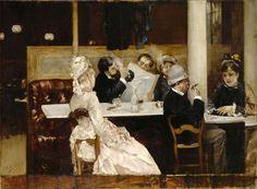 Henri Gervex (1852-1929, France) - Scène Café à Paris (1877) | Detroit Institute of Arts (DIA)