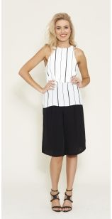 Monochrome Love - The 'Licorice Top' available online now at www.livingdoll.com.au