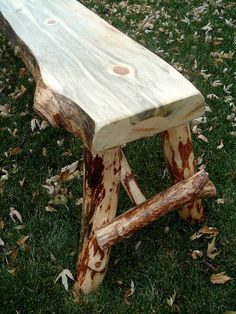 Rustic Log Bench by ReclaimedandRustic on Etsy, $95.00