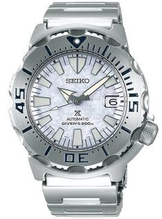 Seiko Prospex Monster with Automatic Movement and Stainless Steel Case with 50 hour power reserve Stainless Steel Bracelet, Stainless Steel Case, Scuba Watch, Ice Monster, Seiko Monster, Seiko Automatic, Affordable Watches, Seiko Watches, Casio Watch