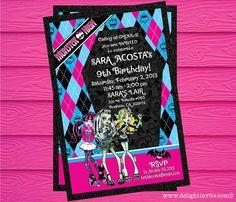 Monster High Birthday Invitation