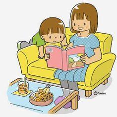 Maestra de Infantil: Dibujos para colorear la familia. Dibujos variados y con modelo para copiar.