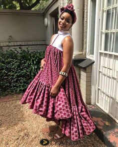 shweshwe dresses 2019 for African women - fashion by diyanu fashion magazine Latest African Fashion Dresses, African Dresses For Women, African Print Dresses, African Print Fashion, African Attire, African Wear, African Women, Xhosa Attire, Ankara Fashion