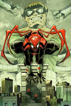 #Superior #Spiderman #Fan #Art. (Superior spider-man) By: Saul Shavanas & Dany Morales. (THE * 5 * STÅR * ÅWARD * OF: * AW YEAH, IT'S MAJOR ÅWESOMENESS!!!™)[THANK Ü 4 PINNING<·><]<©>ÅÅÅ+(OB4E)