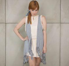 Colete feminino em malha na cor cinza da marca Coleteria♡ - Coletes exclusivos   feminino e infantil   Coleteria ♡