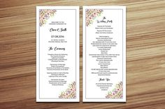 Wedding Program Template @creativework247