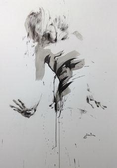 ewa hauton ink on paper 70x100cm