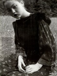 """Лесная Сказка"", VOGUE Russia, October 1998 Photographer: Juergen Teller Model: Devon Aoki"