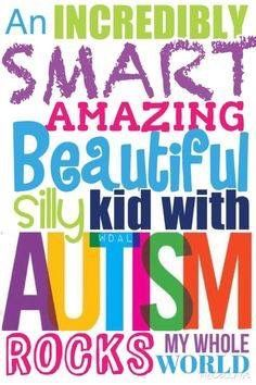 Autistic kids are creative, silly, and fun to be with!