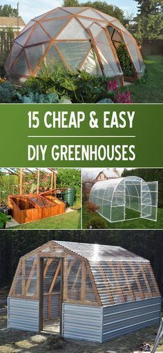 Awesome collection of projects as well as tutorials on how to make your very own DIY greenhouse diy garden projects 15 Cheap & Easy DIY Greenhouse Projects Greenhouse Gardening, Hydroponic Gardening, Organic Gardening, Gardening Tips, Greenhouse Ideas, Cheap Greenhouse, Outdoor Greenhouse, Portable Greenhouse, Greenhouse Wedding