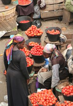 Beautiful shot of a local market in Kumasi, Ghana