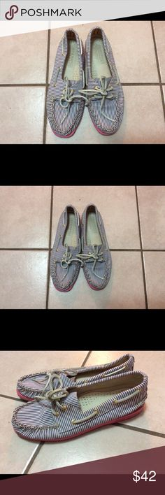 Sperry Top-Sider for J Crew canvas size 7 1/2 Need cleaning, canvas, still in good condition. Sperry Top-Sider Shoes