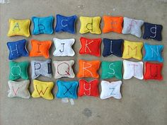 Make Recycled T-shirt Alphabet Beanbags