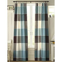 Plaid drapes from JC Penny