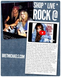 """Check out today's BretMichaels.com #FlashbackFriday #FridayFeature: Bret wrote the song """"Love's A Hard Game To Play"""" for Stevie Nicks which she featured on her """"Timespace"""" album. Below are Stevie's words about Bret and the experience working together. - Team Bret #FridayFeelin #BretMichaels #StevieNicks #FleetwoodMac Fleetwood Mac #MusicBonds #Timespace Rolling Stone Billboard iHeartRadio Apple Music Spotify Amazon Music 🤘🏻🎵"""
