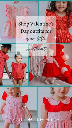Shop cute Valentine's Day dresses and rompers for girls, handmade dresses made with love Cute, handmade Valentine's Day dresses and Valentine's Day rompers for girls Must have Valentines Day outfits for girls that are great for parties, school, dress up, family photos, and so much more! pink dresses and pink rompers for girls vday ideas that your girls will love! #valentinesday #pink Baby Girl Fashion, Toddler Fashion, Kids Fashion, Girl Toddler, Toddler Fun, Cute Girl Outfits, Toddler Outfits, Cute Little Girls, Cute Kids