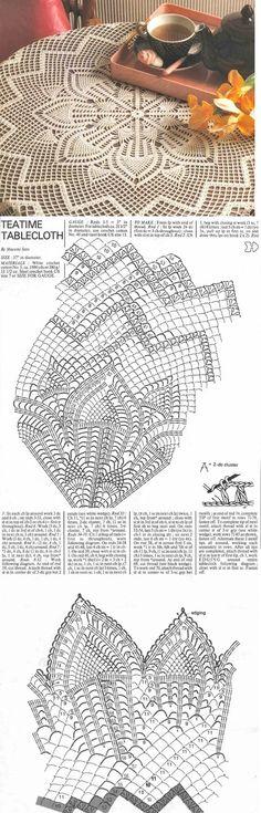 crochet tablecloth pattern ... <3 Deniz <3