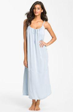 Donna Karan Sleepwear Gathered Matte Satin Nightgown available at #Nordstrom