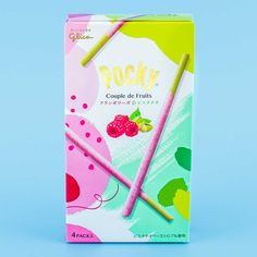 Pocky Biscuit Sticks - Couple De Fruits Framboise & Pistachio Giant Chocolate, Cocoa Chocolate, Japanese Sweet, Japanese Candy, Japanese Snacks, Japanese Food, Korean Sweets, Kawaii Cooking, Mango Mousse