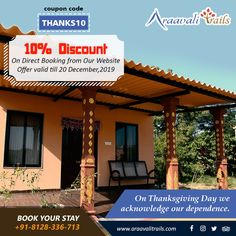 Araavali Trails is one of the best resorts in palanpur and one of the most popular resort near Ambaji. And it is one of the best adventure resort in Palanpur having horse ride, eco jungle walk and many more things. Adventure Resort, Best Resorts, Vacation Trips, Special Occasion, Pergola, Trail, Picnic, Hotels, Thanksgiving
