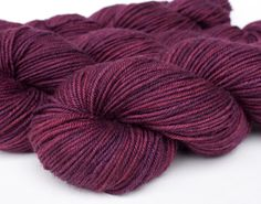 Handpainted purple worsted yarn 4 oz by huckleberryknits on Etsy, $19.00