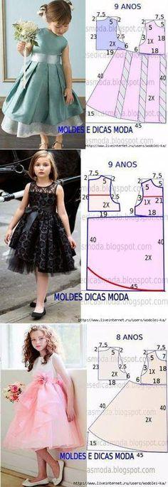 Dresses for little women of fashion // Irina Kovalevskaya Girls Dresses Sewing, Frocks For Girls, Little Girl Dresses, Baby Girl Dress Patterns, Dress Sewing Patterns, Skirt Patterns, Coat Patterns, Blouse Patterns, Fashion Kids