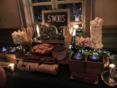 S'mores Bar, Stars, Twinkle Lights, Paper Lanterns, Starry Sips Sweet 16 Party Ideas | Photo 1 of 39 | Catch My Party