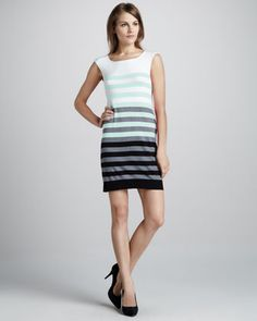 Multi-Stripe Knit Dress by Milly at Neiman Marcus.