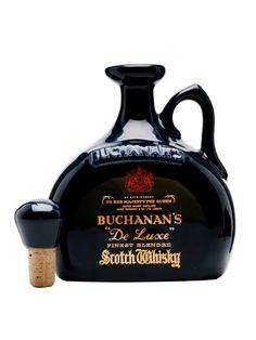 Buchanan's Deluxe / Blue Ceramic Decanter
