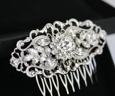 Hey, I found this really awesome Etsy listing at https://www.etsy.com/listing/80378601/art-deco-bridal-hair-comb-filigree