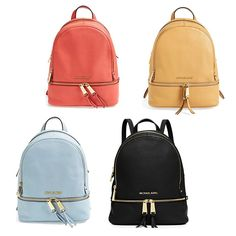 Rank & Style - MICHAEL Michael Kors Small Rhea Leather Backpack #rankandstyle