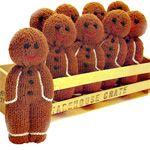 Gingerbread Men Knitting Pattern - Christmas Decor for Tree or Play PDF Knitting Pattern Instant Dow Christmas Knitting Patterns, Knitting Patterns Free, Free Knitting, Baby Knitting, Free Pattern, Knitting For Charity, Drops Delight, Stitch Crochet, Crochet Socks