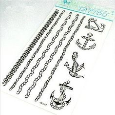 Sailor Jerry Anchors Tattoo Stickers