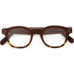 56342f11f3e Céline round frame glasses ( 345) ❤ liked on Polyvore featuring  accessories