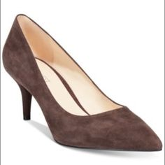 """Nine West pumps Demand authority in these pointy suede pumps! These shoes feature a suede material and minimal heel. These shoes are brand new as pictured!  Suede Imported Manmade sole Shaft measures approximately 2.5"""" from arch Heel measures approximately 2.5"""" Nine West Shoes Heels"""