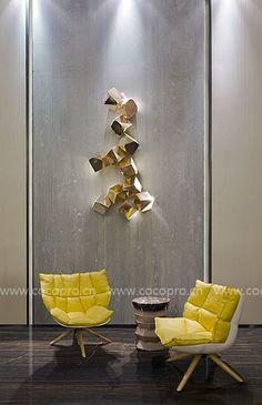 Tiles Texture, Texture Art, Wall Sculptures, Sculpture Art, Unusual Furniture, Wall Installation, Relax, Art Decor, Rest Area