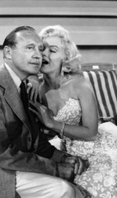 Marilyn Monroe with Jack Benny, September of 1953. A George Vreeland Hill Pinterest post.