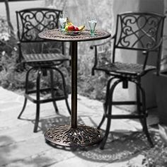 11 best cast aluminum bistro set images patio furniture setsparis cast aluminum outdoor bar height bistro table (chairs are not included)