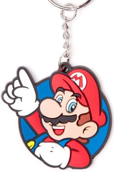 Nintendo Rubber Keychain Mario, Its Me! Rubber Keychain, Anime Merchandise, Mario, Nintendo, Gaming, Personalized Items, Comics, Toys, Fictional Characters