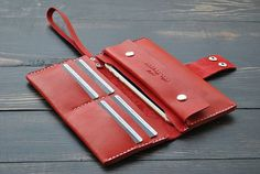 Wallet with coin pocket Leather wallet Leather от 9FloorStudio