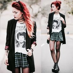 Dark, edgy, and I just got a blazer like this one.