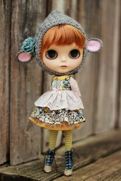 Liberty of London and Vintage Lace Dress Set for Blythe por Trio