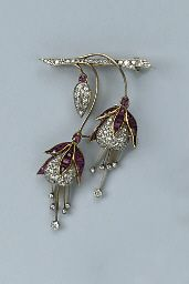 A RUBY AND DIAMOND BROOCH | Jewelry Auction | French, Jewelry | Christie's