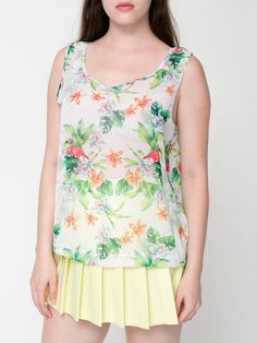 american apparel/ flamingo print tank