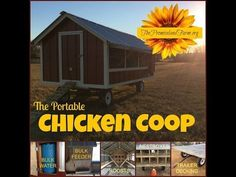 Chicken Coop - - Chicken Tractor Coop video tour (how we built it) Building a chicken coop does not have to be tricky nor does it have to set you back a ton of scratch. Chicken Coop On Wheels, Mobile Chicken Coop, Portable Chicken Coop, Best Chicken Coop, Chicken Tractors, Backyard Chicken Coops, Chicken Coop Plans, Building A Chicken Coop, Chickens Backyard