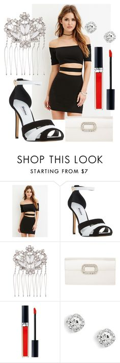 """""""Untitled #815"""" by rajtarov-natasa ❤ liked on Polyvore featuring Forever 21, Dune, Accessorize, Roger Vivier and Christian Dior"""