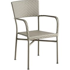 Pier 1 Imports Del Rey Stacking Armchair (€63) ❤ liked on Polyvore featuring home, outdoors, patio furniture, outdoor chairs, grey, outdoor furniture, grey armchair, outdoor patio chairs and outside patio chairs